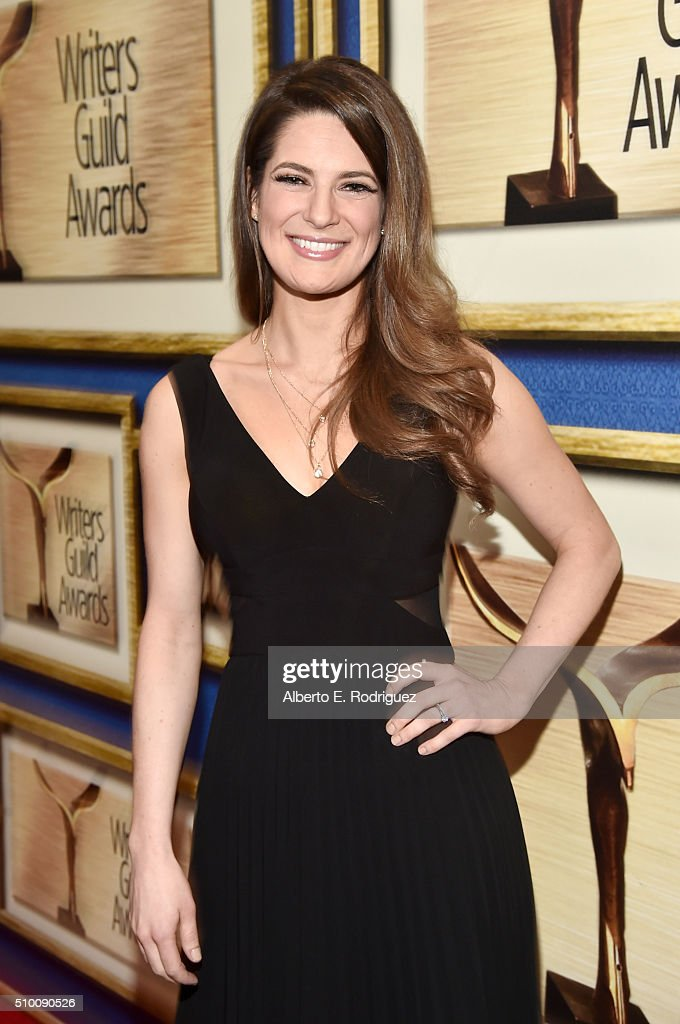 Writer Carrie Kemper attends the 2016 Writers Guild Awards at the Hyatt Regency Century Plaza on February 13, 2016 in Los Angeles, California.