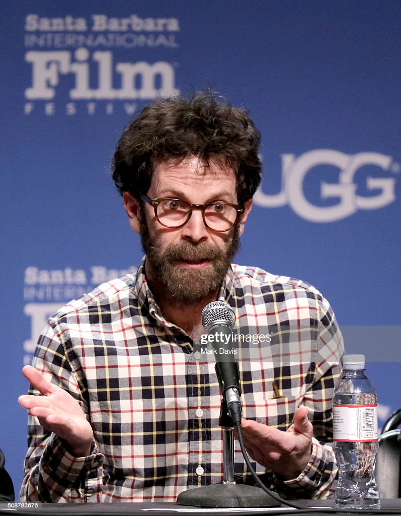 Writer <a gi-track='captionPersonalityLinkClicked' href=/galleries/search?phrase=Charlie+Kaufman&family=editorial&specificpeople=217701 ng-click='$event.stopPropagation()'>Charlie Kaufman</a> speaks at the Writer's Panel at the Lobero, at the 31th Santa Barbara International Film Festival on February 6, 2016 in Santa Barbara, California.