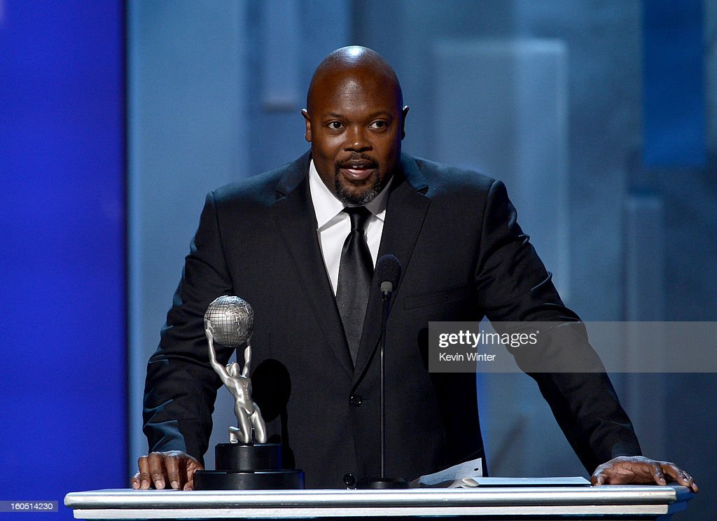 Writer Cheo Hodari Coker accepts Writing in a Dramatic Series award for 'SouthLAnd' onstage during the 44th NAACP Image Awards at The Shrine Auditorium on February 1, 2013 in Los Angeles, California.