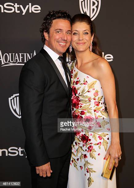 Writer Chris Case and actress Kate Walsh attend the 2015 InStyle And Warner Bros 72nd Annual Golden Globe Awards PostParty at The Beverly Hilton...
