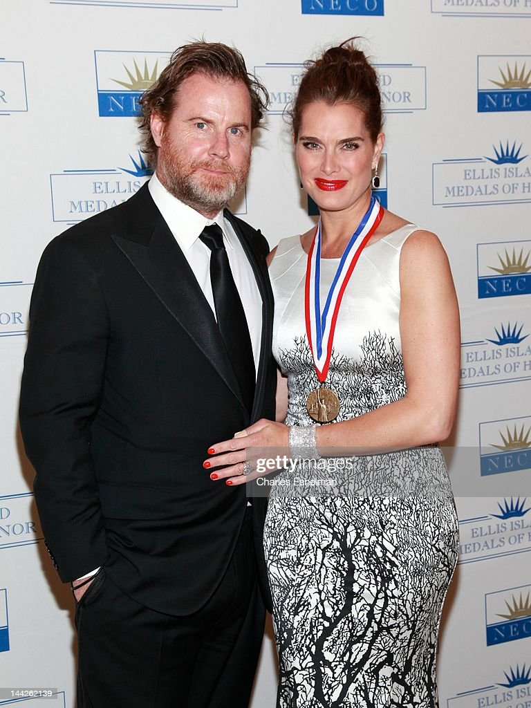 Writer Chris Henchy and actress Brooke Shields attend The 2012 Ellis Island Medals Of Honor at Ritz Carlton Battery Park on May 12, 2012 in New York City.