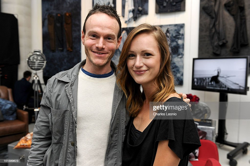 Writer <a gi-track='captionPersonalityLinkClicked' href=/galleries/search?phrase=Chris+Terrio&family=editorial&specificpeople=208138 ng-click='$event.stopPropagation()'>Chris Terrio</a> (L) and Actress <a gi-track='captionPersonalityLinkClicked' href=/galleries/search?phrase=Kerry+Bishe&family=editorial&specificpeople=4584762 ng-click='$event.stopPropagation()'>Kerry Bishe</a> pose at the Guess Portrait Studio on Day 3 during the 2012 Toronto International Film Festival at Bell Lightbox on September 8, 2012 in Toronto, Canada.