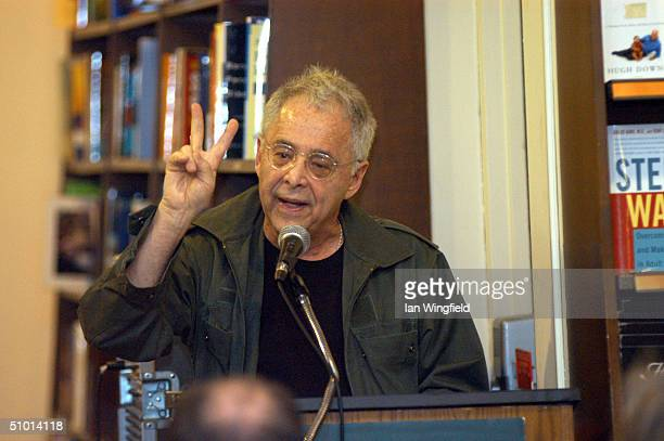 Writer Chuck Barris speaks during his 'Bad Grass Never Dies' during a book signing June 30 2004 in New York City