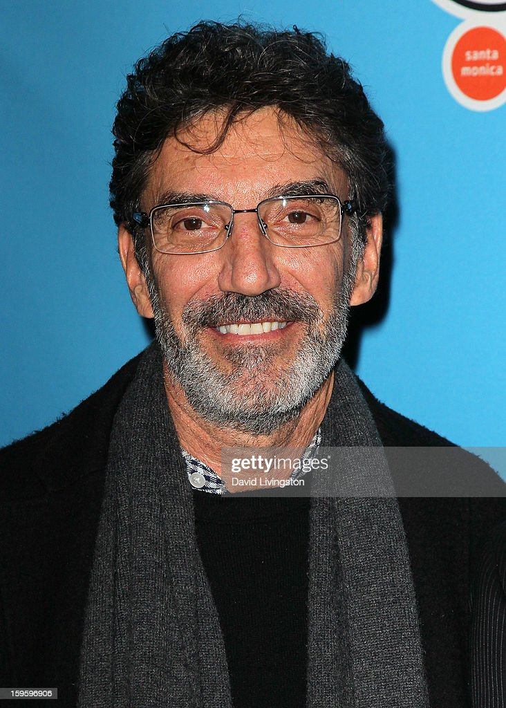 Writer <a gi-track='captionPersonalityLinkClicked' href=/galleries/search?phrase=Chuck+Lorre&family=editorial&specificpeople=2307242 ng-click='$event.stopPropagation()'>Chuck Lorre</a> attends the opening night of 'Freud's Last Session' at The Broad Stage at the Santa Monica College Performing Arts Center on January 16, 2013 in Santa Monica, California.