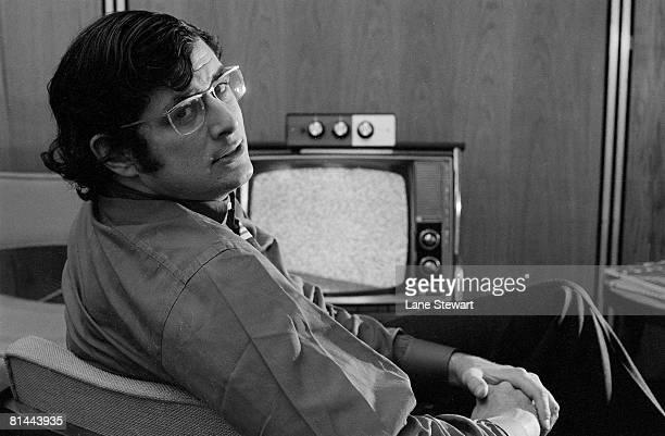 Closeup portrait of Frank Deford New York NY 12/4/1970
