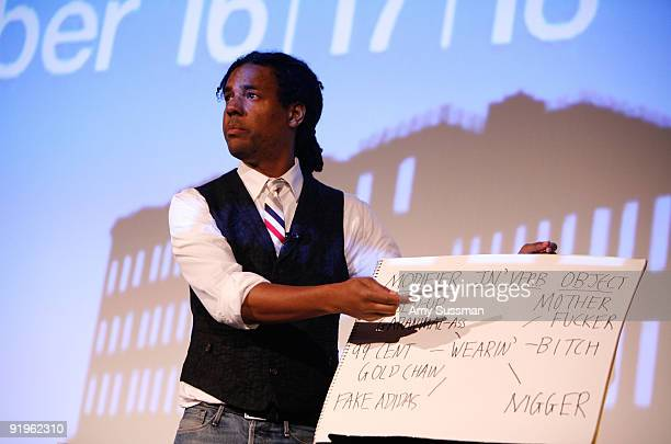 Writer Colson Whitehead reads his work at The 2009 New Yorker Festival Fiction Night at DGA on October 16 2009 in New York City