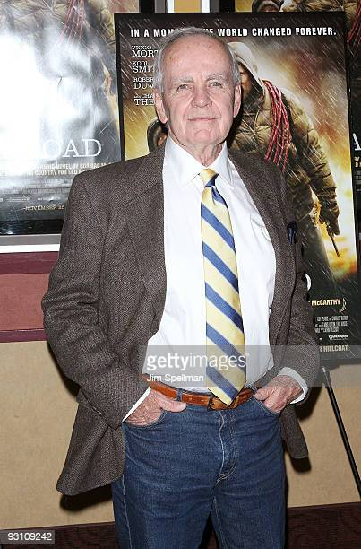 Writer Cormac McCarthy attends the premiere of 'The Road' at Clearview Chelsea Cinemas on November 16 2009 in New York City