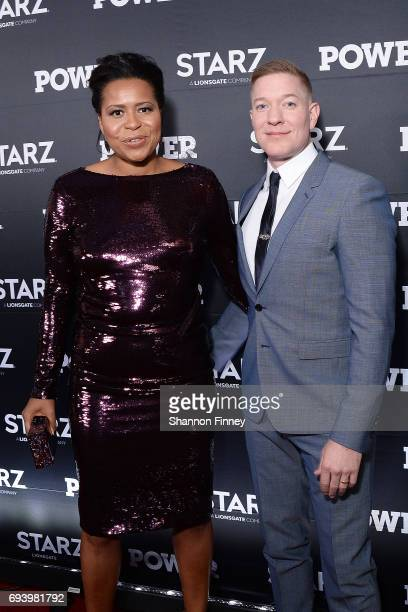 Writer Courtney Kemp creator and Executive Producer of the Starz series 'Power' on the red carpet with series star Joseph Sikora at the Washington DC...