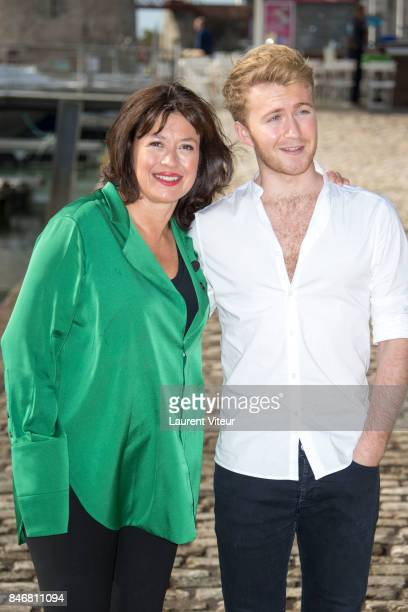 Writer Daisy Goodwin and Actor Jordan Waller attend 'Victoria' Photocall during 19th Festival Of TV Fiction on September 14 2017 in La Rochelle France