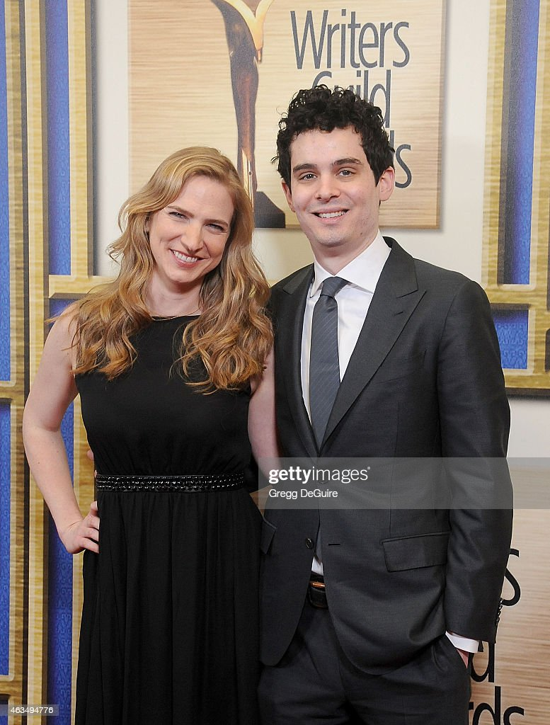 Writer Damien Chazelle and Helen Estabrook arrive at the 2015 Writers Guild Awards L.A. Ceremony at the Hyatt Regency Century Plaza on February 14, 2015 in Los Angeles, California.