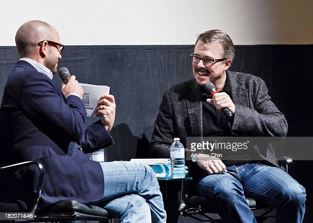 Writer Damon Lindelof and show creator Vince Gilligan speak on stage at VIFF's Film and Television Forum and CineCoup host 'One Last Cook A Special...