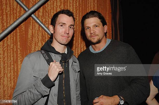 Writer Daniel Casey and actor Marc Blucas attend Sundance Screenplay Reading on May 12 2008 at the Actors Gang in Culver City California