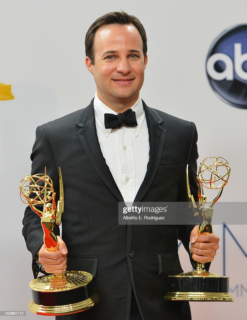 Writer Danny Strong poses in the 64th Annual Emmy Awards press room at Nokia Theatre L.A. Live on September 23, 2012 in Los Angeles, California.
