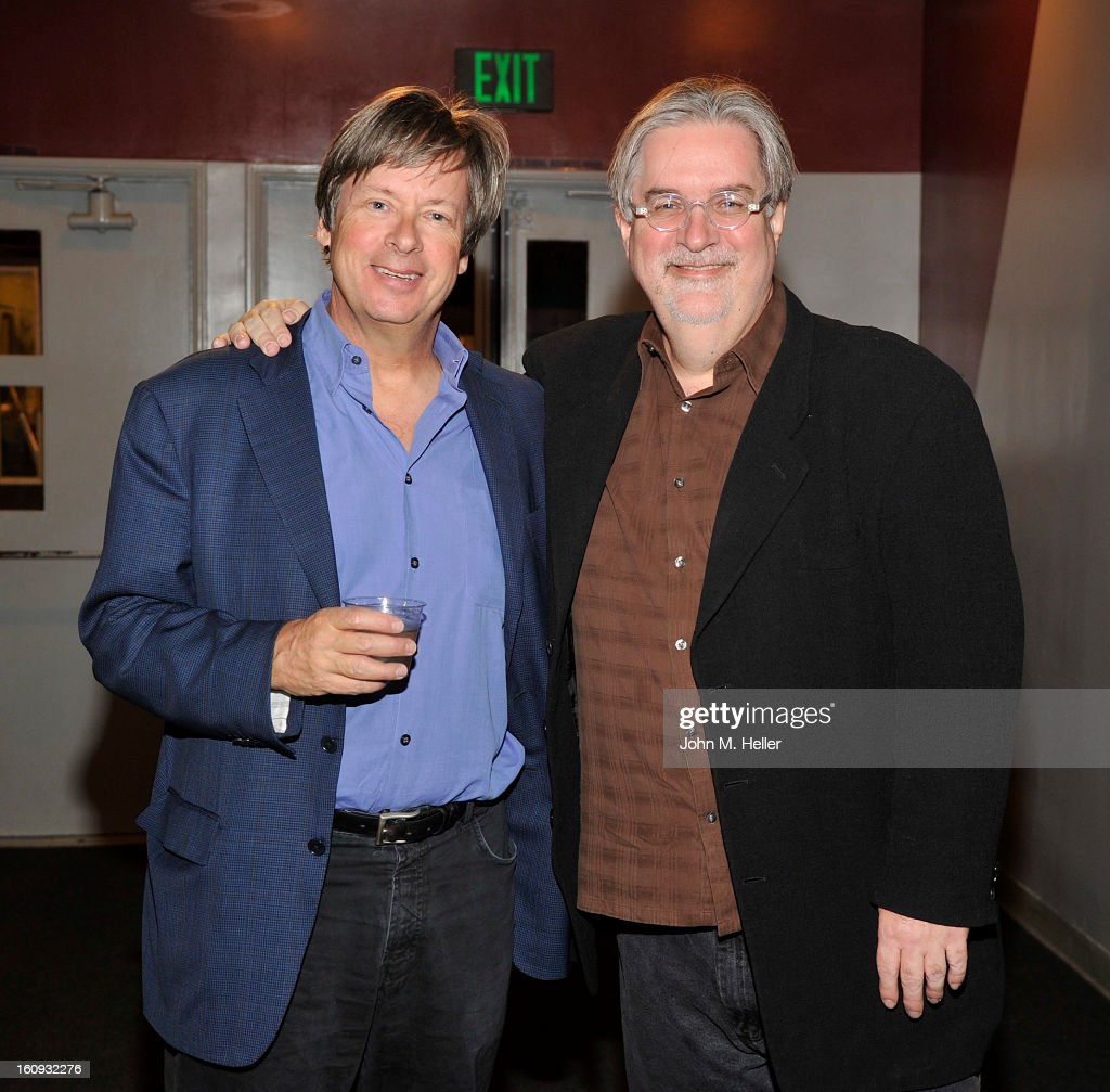 Writer Dave Barrry and Creator/writer of 'The Simpsons' <a gi-track='captionPersonalityLinkClicked' href=/galleries/search?phrase=Matt+Groening&family=editorial&specificpeople=615419 ng-click='$event.stopPropagation()'>Matt Groening</a> arrives at the Live Talks LA presents 'An Evening with <a gi-track='captionPersonalityLinkClicked' href=/galleries/search?phrase=Dave+Barry&family=editorial&specificpeople=663731 ng-click='$event.stopPropagation()'>Dave Barry</a> in Conversation With <a gi-track='captionPersonalityLinkClicked' href=/galleries/search?phrase=Matt+Groening&family=editorial&specificpeople=615419 ng-click='$event.stopPropagation()'>Matt Groening</a>' at the Aero Theatre on February 7, 2013 in Santa Monica, California.