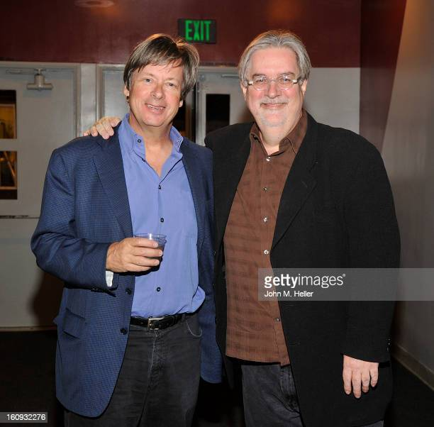Writer Dave Barrry and Creator/writer of 'The Simpsons' Matt Groening arrives at the Live Talks LA presents 'An Evening with Dave Barry in...