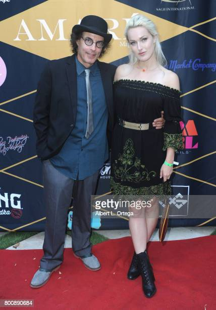 Writer Dave Shelton and actress Hollin Hayley attend the Amare Magazine 1st Year Anniversary Issue Release Soiree held at a Private Residence on June...
