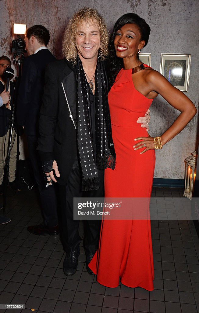 Writer David Bryan and cast member Beverley Knight attend the press night performance of 'Memphis The Musical' at The Floridita on October 23 2014 in...