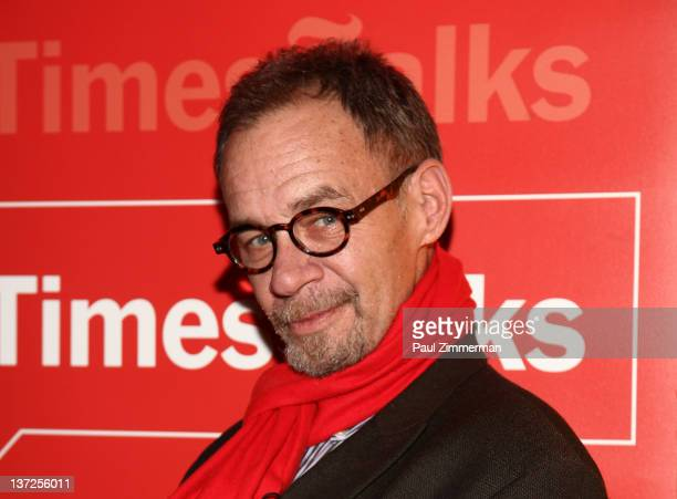 Writer David Carr attends the New York Times TimesTalk at The Times Center on January 17 2012 in New York City