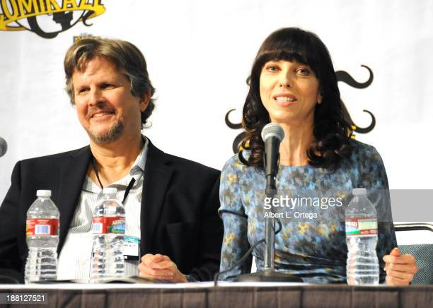 Writer David Greenwalt and actress Juliet Landau attend Stan Lee's Comikaze Expo Presented By POW Entertainment Day 1 held at Los Angeles Convention...