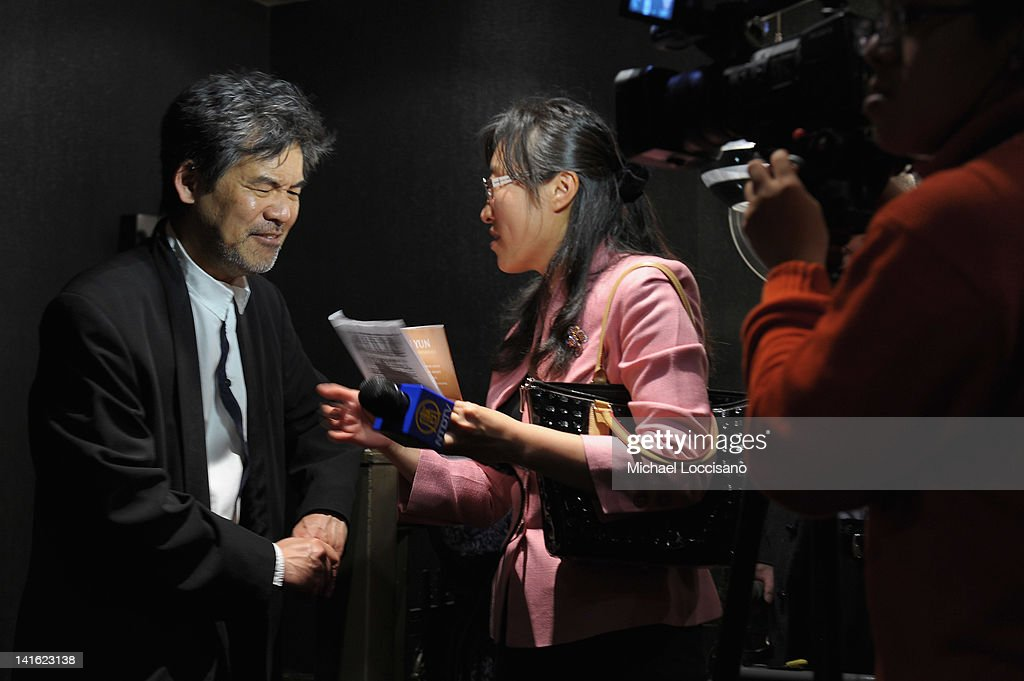 Writer David Henry Hwang is interviewed during 'Legacy And Homecoming' the Pan Asian Repertory's 35th Anniversary Gala at The Edison Ballroom on March 19, 2012 in New York City.