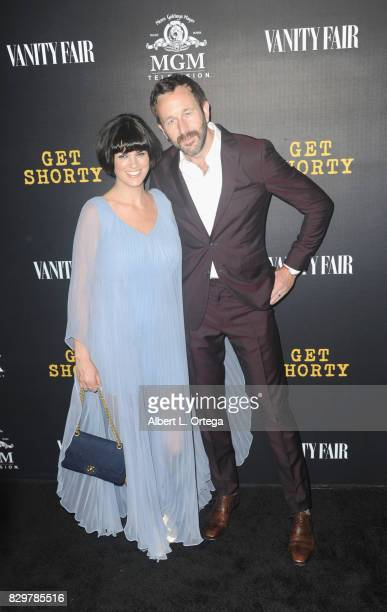 Writer Dawn O'Porter and husband Chris O'Dowd arrive for the Red Carpet Premiere of EPIX Original Series 'Get Shorty' held at Pacfic Design Center on...