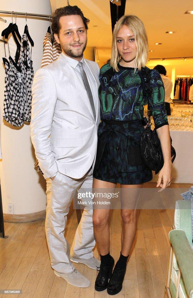 Writer Derek Blasberg and actress Chloe Sevigny attend the book party for Derek Blasberg's 'Classy' at Barneys New York on April 6, 2010 in New York City.