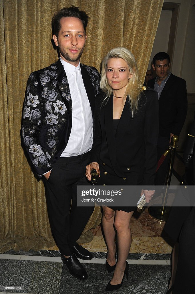 Writer <a gi-track='captionPersonalityLinkClicked' href=/galleries/search?phrase=Derek+Blasberg&family=editorial&specificpeople=856710 ng-click='$event.stopPropagation()'>Derek Blasberg</a> and designer <a gi-track='captionPersonalityLinkClicked' href=/galleries/search?phrase=Kate+Young+-+Stylist&family=editorial&specificpeople=15146765 ng-click='$event.stopPropagation()'>Kate Young</a> attend Moda Operandi and St. Regis Hotels & Resorts event 'A Midnight Supper' to celebrate the launch of the exclusive Punk Collection on preview at The St Regis New York on May 4, 2013 in New York City.