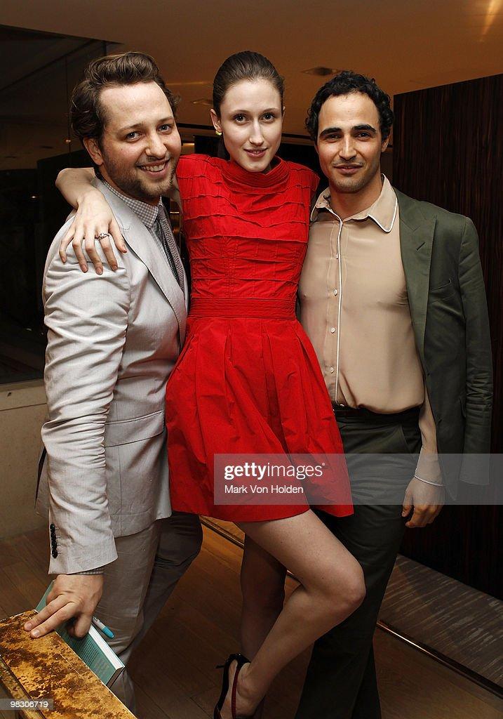 Writer Derek Blasberg, Anna Clevland, fashion designer Zac Posen attend the book party for Derek Blasberg's Classy at Barneys New York on April 6, 2010 in New York City.