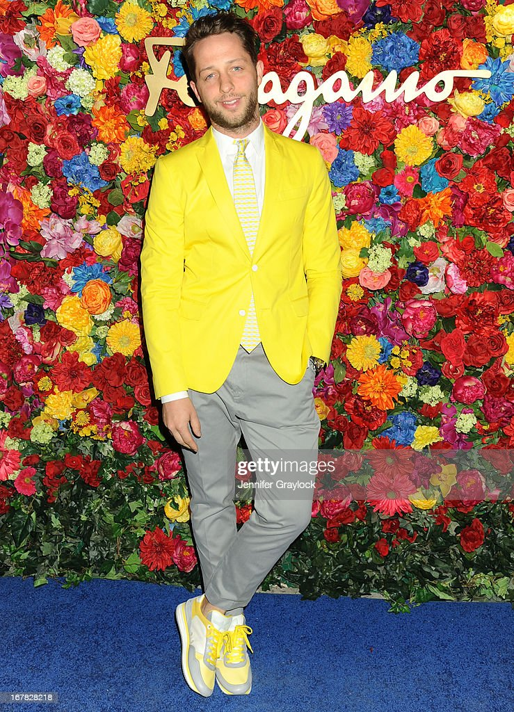 Writer Derek Blasberg attends the Ferragamo Celebrates The Launch Of L'Icona Highlighting The 35th Anniversary Of Vara at The McKittrick Hotel, Home of Sleep No More on April 30, 2013 in New York City.