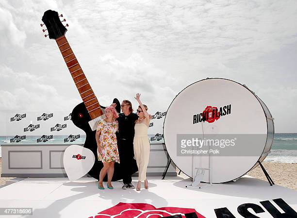 Writer Diablo Cody actors Rick Springfield and Mamie Gummer attend the 'Ricki and the Flash' photo call during Summer Of Sony Pictures Entertainment...