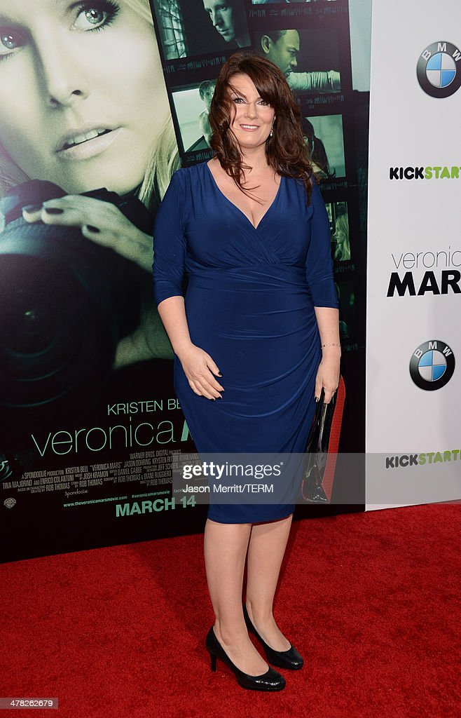 Writer Diane Ruggiero arrives at the Los Angeles premiere of 'Veronica Mars' at TCL Chinese Theatre on March 12, 2014 in Hollywood, California.