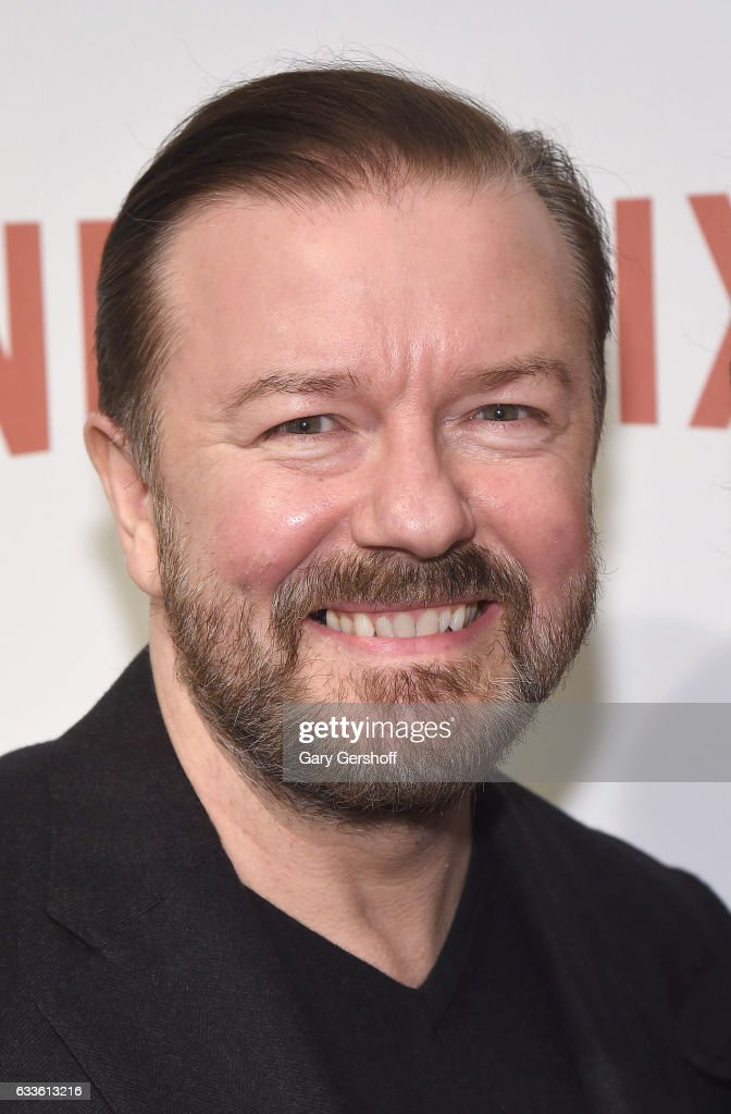Writer, director and actor Ricky Gervais attends 'David Brent: Life on the Road' New York Screening at Metrograph on February 2, 2017 in New York City.