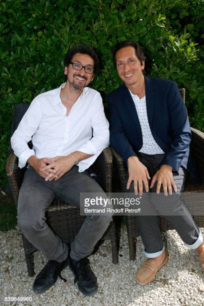 Writer director David Foenkinos and his brother director Stephane Foenkinos attend the 10th Angouleme FrenchSpeaking Film Festival Day Five on August...