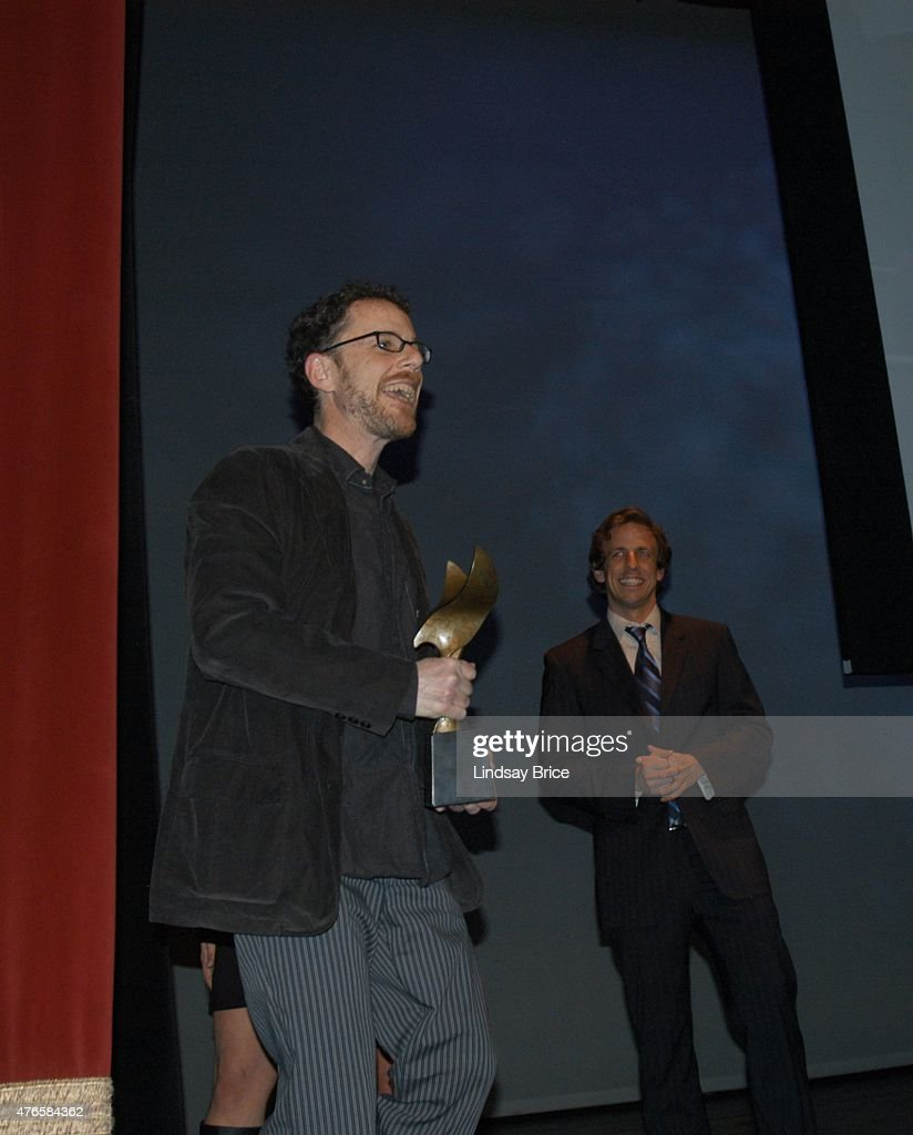 Writer director Ethan Coen acceptepting the Best Adapted Screenplay award for 'No Country for Old Men' the Writers Guild East Awards on February 9...
