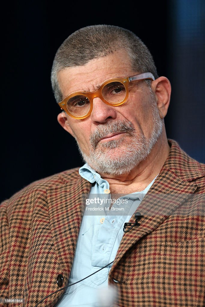 Writer, Director, Executive Producer David Mamet speaks onstage during the 'Phil Spector' panel discussion at the HBO portion of the 2013 Winter TCA Tourduring 2013 Winter TCA Tour - Day 1 at Langham Hotel on January 4, 2013 in Pasadena, California.