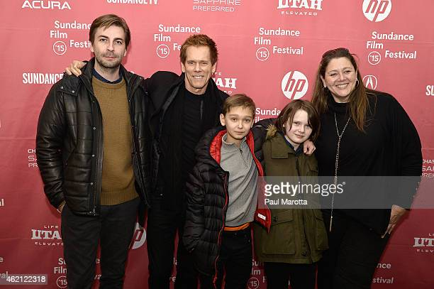 Writer Director Jon Watts Kevin Bacon James FreedsonJackson Hays Wellsford and Camryn Manheim attend the premiere of 'Cop Car' during the 2015...