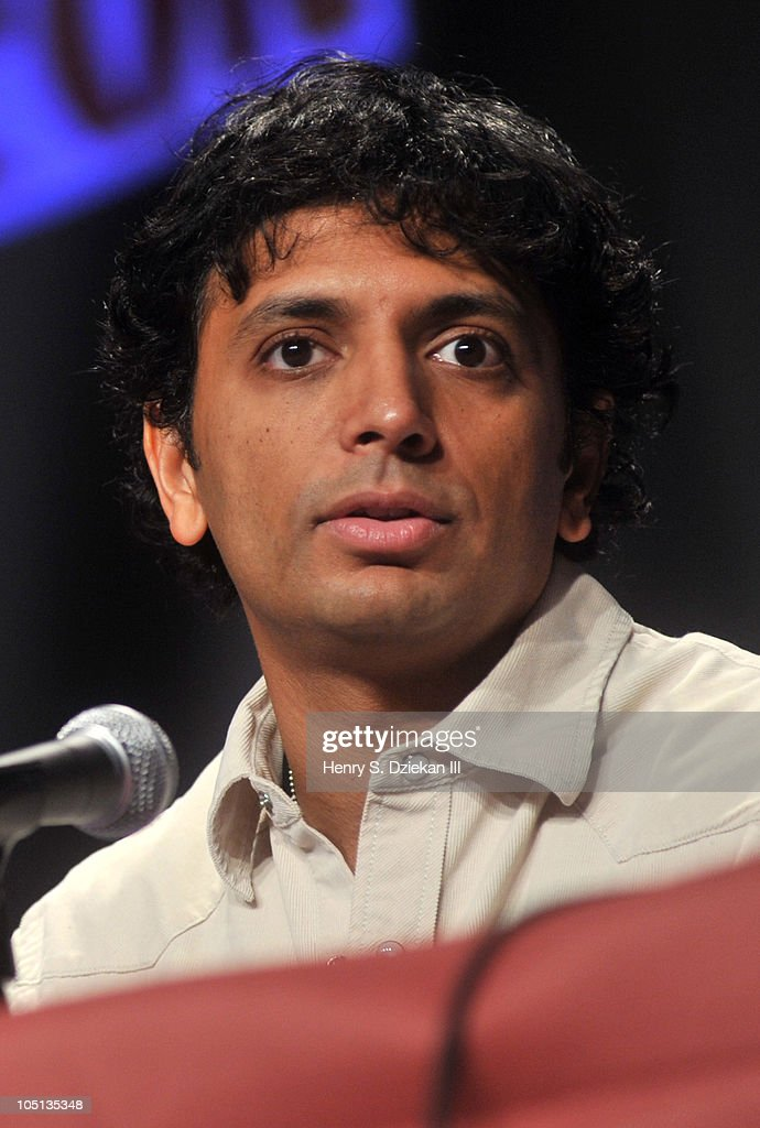 Writer / Director <a gi-track='captionPersonalityLinkClicked' href=/galleries/search?phrase=M.+Night+Shyamalan&family=editorial&specificpeople=227417 ng-click='$event.stopPropagation()'>M. Night Shyamalan</a> attends the 2010 New York Comic Con at the Jacob Javitz Center on October 10, 2010 in New York City.