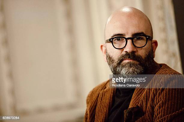 Writer Donato Carrisi during the presentation of his novel 'Il Maestro Delle Ombre' at Noir In Festival on December 10 2016 in Como Italy