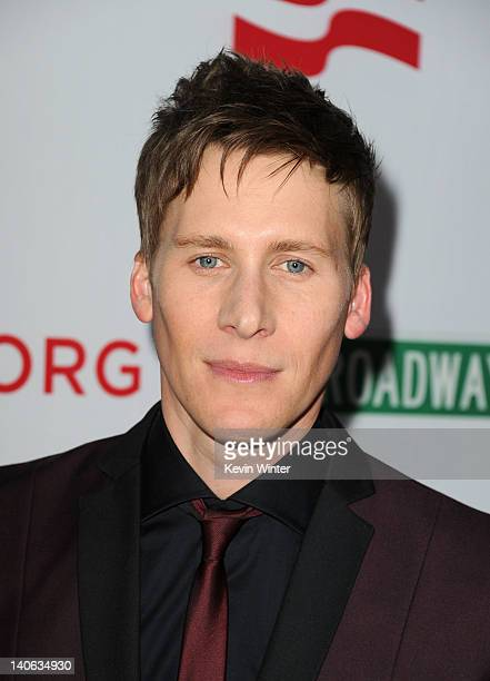 Writer Dustin Lance Black arrives at the premiere of '8' presented by The American Foundation For Equal Rights Broadway Impact at The Wilshire Ebell...