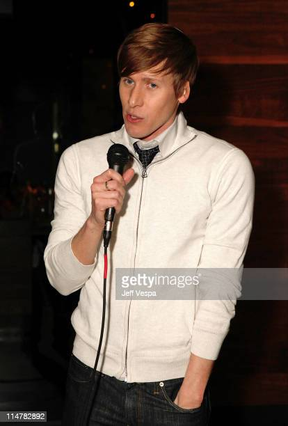 Writer Dustin Lance Black attendsA Celebration of The Works of Dustin Lance Black and Gus Van Sant hosted by Levi's at Nobu on February 15 2009 in...