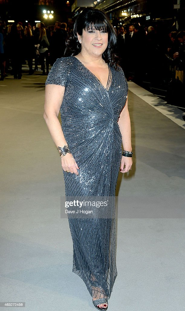 Writer E L James attends the UK Premiere of 'Fifty Shades Of Grey' at Odeon Leicester Square on February 12, 2015 in London, England.