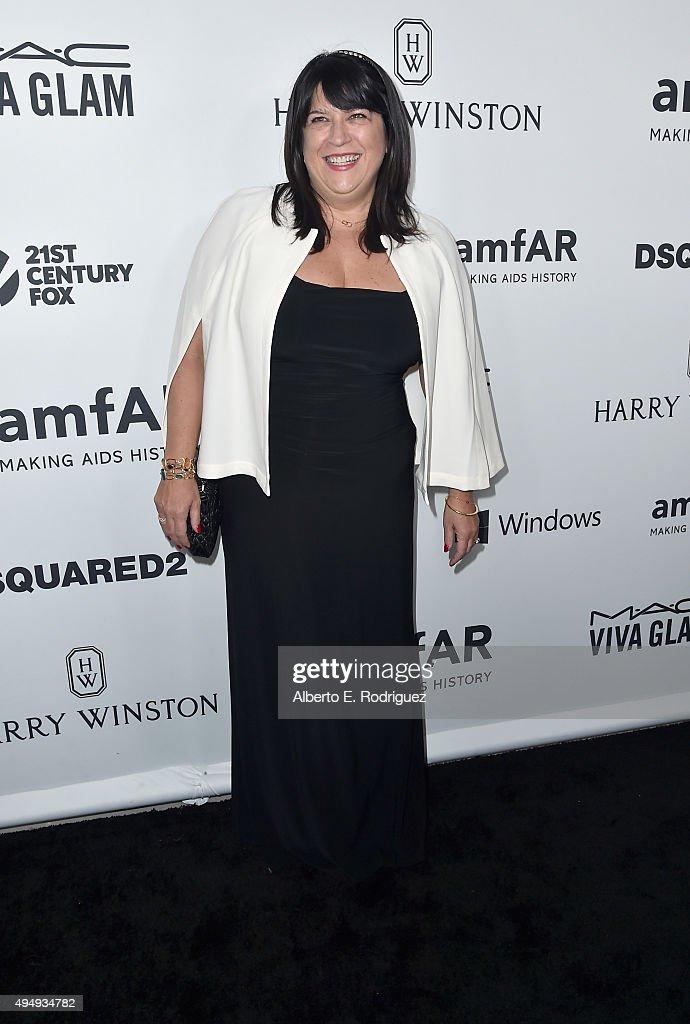 Writer E.L. James attends amfAR's Inspiration Gala Los Angeles at Milk Studios on October 29, 2015 in Hollywood, California.