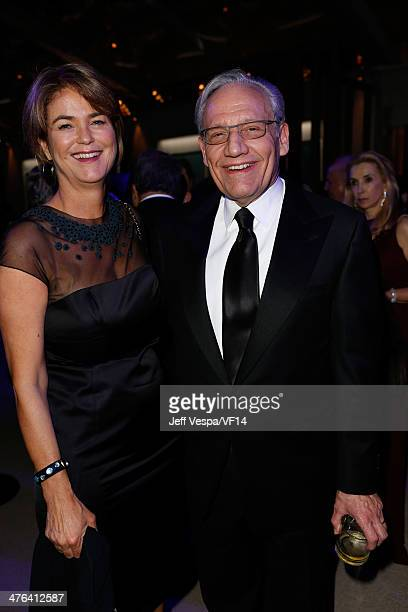 Writer Elsa Walsh and journalist Bob Woodward attend the 2014 Vanity Fair Oscar Party Hosted By Graydon Carter on March 2 2014 in West Hollywood...