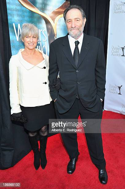 Writer Eric Roth and guest arrive at the 2012 Writers Guild Awards at the Hollywood Palladium on February 19 2012 in Los Angeles California