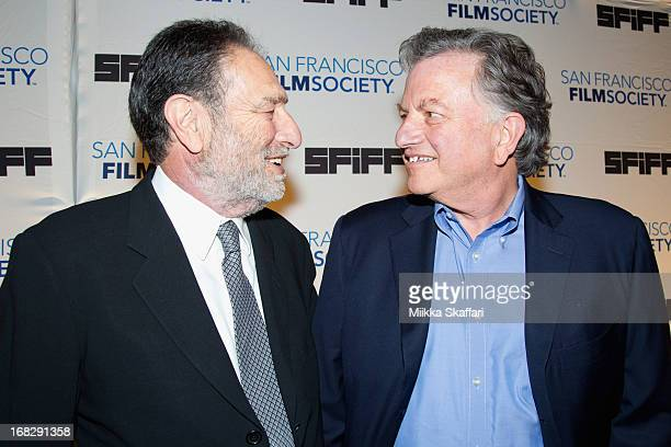 Writer Eric Roth and producer Lowell Bergman arriving at Bimbo's on May 7 2013 in San Francisco California