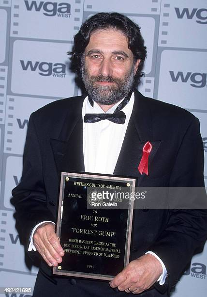 Writer Eric Roth attends the 47th Annual Writers Guild of America Awards on March 19 1995 at the Beverly Hilton Hotel in Beverly Hills California