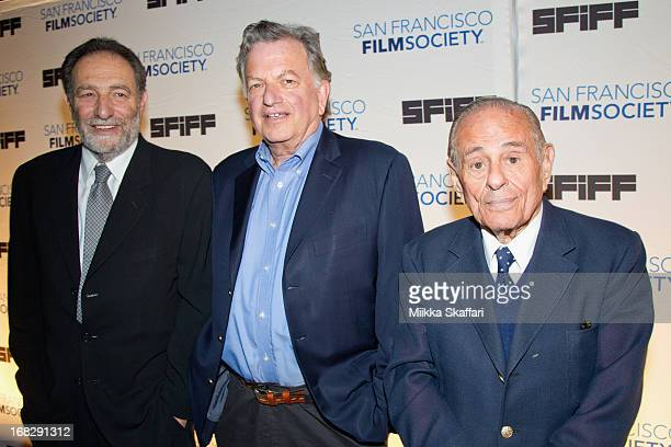 Writer Eric Roth producer Lowell Bergman and Maurice Kanbar arriving at Bimbo's on May 7 2013 in San Francisco California