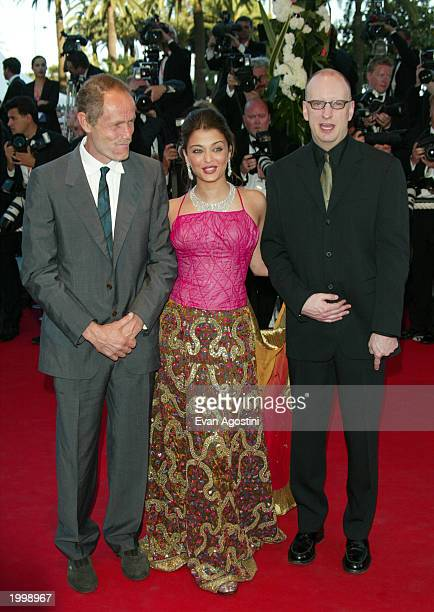 Writer Erri De Lucca actress Aishwarya Rai and director Steven Soderbergh attend the opening ceremony of the 56th International Cannes Film Festival...