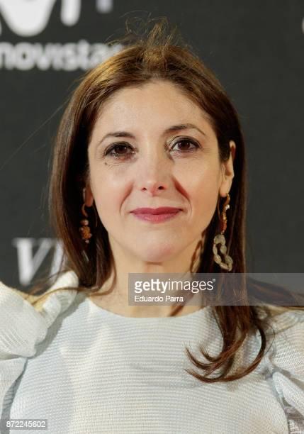 Writer Espido Freire attends the 'Una razon para vivir' premiere on November 9 2017 in Madrid Spain