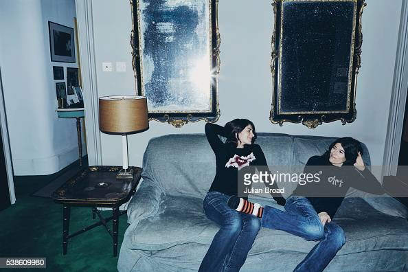 Writer Esther Freud is photographed with her sister fashion designer Bella Freud for Vanity Fair magazine on March 18 2016 in London England